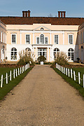 Historic building frontage facade, Hintlesham Hall hotel, Hintlesham, Suffolk, England, UK