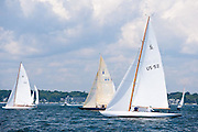 Alana, 6 Meter Class, sailing in the Robert H. Tiedemann Classic Yachting Weekend race 1.
