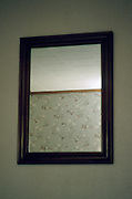 mirror in a motel room