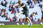 Leeds United defender Ezgjan Alioski (10) warming up during the EFL Sky Bet Championship match between Leeds United and Swansea City at Elland Road, Leeds, England on 31 August 2019.