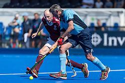 Isca v Ben Rhydding - Men's O50s T1 Final, Lee Valley Hockey & Tennis Centre, London, UK on 06 May 2018. Photo: Simon Parker