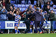 Goal, Yakou Meite of Reading scores the winner, Reading 3-2 Wigan Athletic during the EFL Sky Bet Championship match between Reading and Wigan Athletic at the Madejski Stadium, Reading, England on 9 March 2019.
