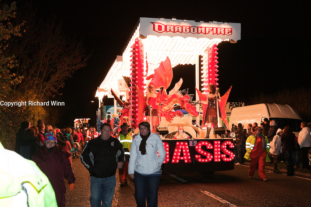 Dragonfire by Oasis CC at North Petherton Guy Fawkes Carnival 2010.