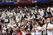 Derby County fans before kick off of the EFL Sky Bet Championship play off final match between Aston Villa and Derby County at Wembley Stadium, London, England on 27 May 2019.