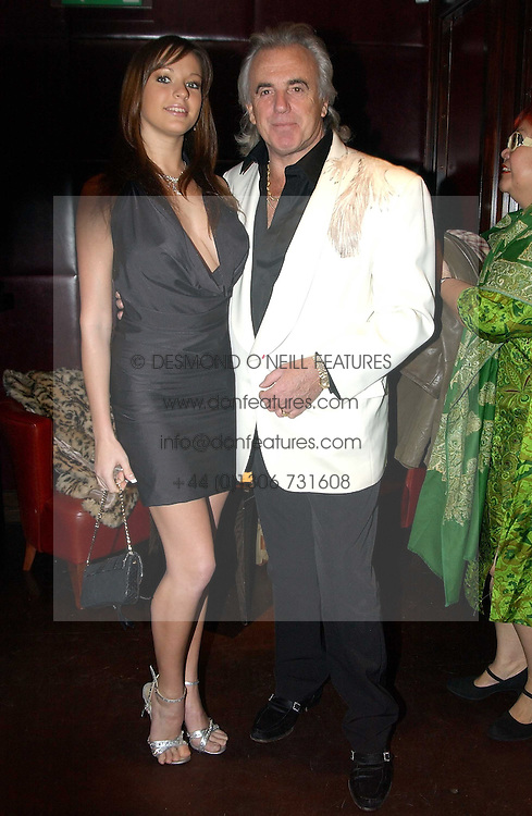 PETER STRINGFELLOW and BELLA WRIGHT at a fund raising dinner hosted by Marco Pierre White and Frankie Dettori's in aid of Conservative Party's General Election Campaign Fund held at Frankie's No.3 Yeoman's Row,æLondon SW3 on 17th January 2005.<br /><br />NON EXCLUSIVE - WORLD RIGHTS