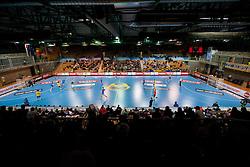 Arena Bonifika during handball match between RK Cimos Koper and HCM Constanta in 10th Round of season 2011/2012 of EHF Men's Champions League, on February 25, 2012 in Arena Bonifika, Koper, Slovenia. Cimos Koper defeated Constanta 28-24. (Photo By Vid Ponikvar / Sportida.com)