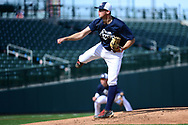 MESA, AZ - FEBRUARY 5:  Matt<br /> Schroer delivers a pitch during the 2017 Prospect Development Pipeline Premier at Sloan Park on Sunday, February 5,  2017 in Tempe, Arizona. (Photo by Jennifer Stewart/MLB Photos)