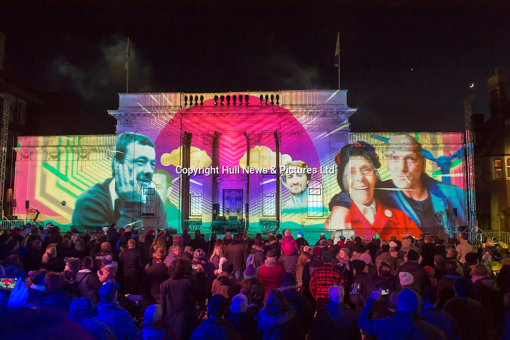 1 January 2017: Launch of Hull 2017 - Uk City of Culture.<br /> Fireworks and Made In Hull.<br /> Picture: Sean Spencer/Hull News & Pictures Ltd<br /> 01482 210267/07976 433960<br /> www.hullnews.co.uk         sean@hullnews.co.uk