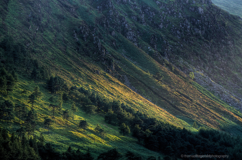 Sunset over the rolling hills of Glendalough National Park