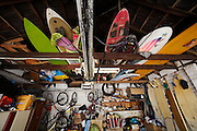"""A garage full of adventure gear<br /> <br /> <br /> <br /> Style: """"cont 5 sat 10"""""""
