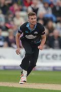 Jack Shantry during the NatWest T20 Blast Quarter Final match between Worcestershire County Cricket Club and Hampshire County Cricket Club at New Road, Worcester, United Kingdom on 14 August 2015. Photo by David Vokes.