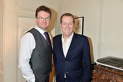 Left to right, EWAN VENTERS and TOM PARKER BOWLES at a lunch hosted by Fortnum & Mason, Piccadilly, London on 29th January 2015 in honour of Marco Pierre White and the publication of White Heat 25.