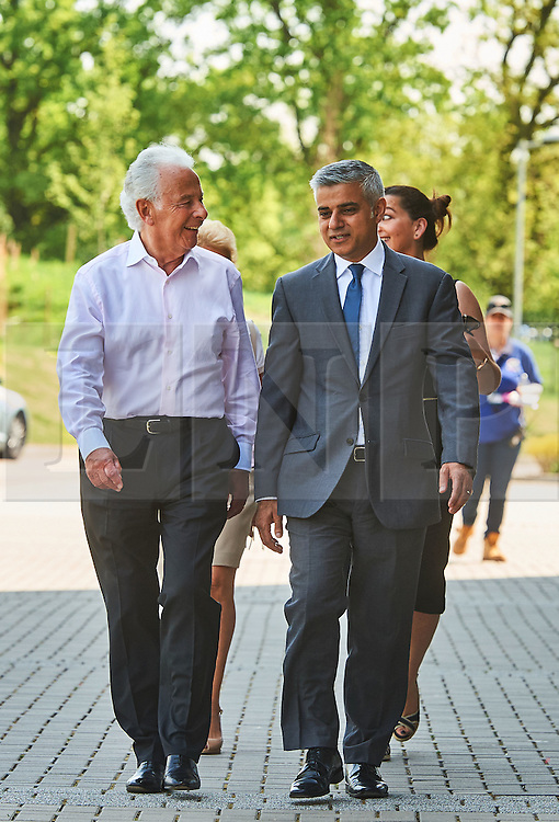 &copy; Licensed to London News Pictures. 8/05/2016. London, UK. London's newly elected mayor, Sadiq Khan arrives at 'Yom Hashoah' the UK Jewish communities national holocaust remembrance commemoration at Barnet Copthall Stadium, north west London.<br /> Photo credit: Simon Jacobs/LNP