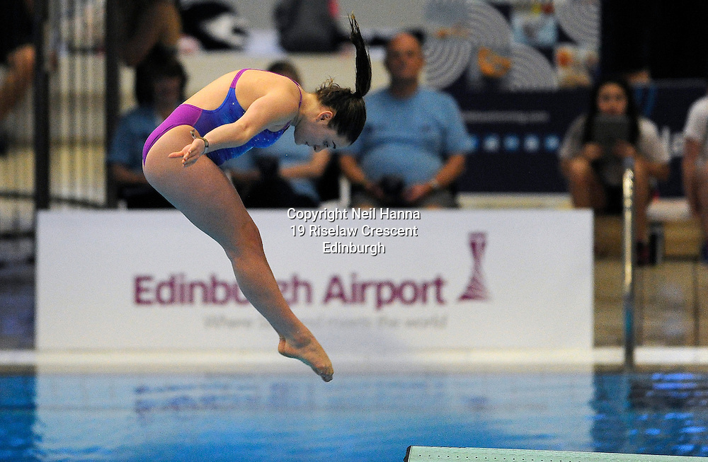 Scottish National Diving Championships & Thistle Trophy 2015<br /> <br /> Free to use <br /> <br /> Royal Commonwealth Pool, Edinburgh<br /> Women's 1M Final<br /> <br /> Lydia Rosenthal  of City of Leeds  finished runner up in the  Senior Open during todays competition.<br /> <br />  Neil Hanna Photography<br /> www.neilhannaphotography.co.uk<br /> 07702 246823