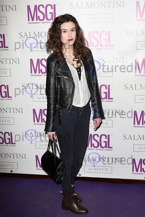 Emma Noakes, MediaSkin Gifting Lounge, Salmontini Le Resto, London UK, 19 January 2015, Photo by Richard Goldschmidt