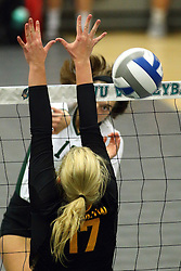 28 October 2016:   during an NCAA womens division 3 Volleyball match between the DePauw Tigers and the Illinois Wesleyan Titans in Shirk Center, Bloomington IL