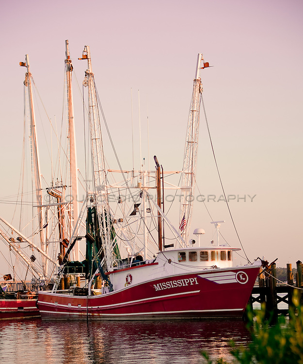Biloxi Mississippi Shrimp Boat at sunrise