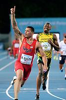 Ryan Bailey of Usa and Usain Bolt of Jamaica 4 x 100 m relay