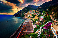 &ldquo;Ominous evening clouds above Positano&rdquo;&hellip;<br />