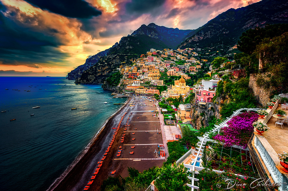 """Ominous evening clouds above Positano""…<br />