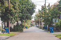 Alleys in Traverse City, Michigan on October 9, 2018 (Gary L Howe) Residential: Between 7th and 8th, from Maple looking east