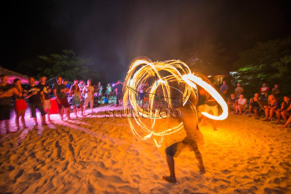 Beach entertainment, Mabul Island, Sabah, Malaysia, Borneo,