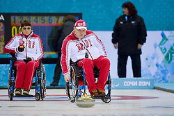 Svetlana Pakhomova, Alexander Shevchenko, Wheelchair Curling Semi Finals at the 2014 Sochi Winter Paralympic Games, Russia