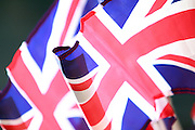Union flag during the Manchester Olympic Parade in Manchester, United Kingdom on 17 October 2016. Photo by Richard Holmes.