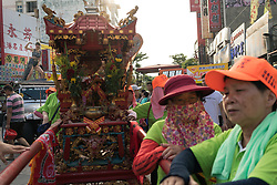 June 05, 2016 - Lukang (Taiwan). Devotees carry a religious relic through the streets of Lukang. © Thomas Cristofoletti / Ruom