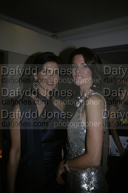 CHRISTINA ESTRADA AND HER SISTER MISCHA SUNSTAD , Grosvenor House Art & Antiques Fair charity gala evening in aid of Coram Foundation. Grosvenor House. Park Lane. London. 14 June 2007.  -DO NOT ARCHIVE-© Copyright Photograph by Dafydd Jones. 248 Clapham Rd. London SW9 0PZ. Tel 0207 820 0771. www.dafjones.com.