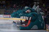 KELOWNA, CANADA - NOVEMBER 22: The Kelowna Rockets enter the ice against the Portland Winterhawks on November 22, 2014 at Prospera Place in Kelowna, British Columbia, Canada.  (Photo by Marissa Baecker/Shoot the Breeze)  *** Local Caption *** Ogi;