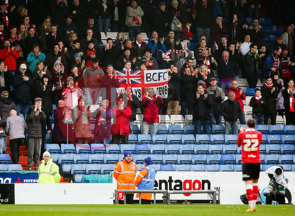 Bristol City's Luke Ayling applauds the away support - Photo mandatory by-line: Matt McNulty/JMP - Mobile: 07966 386802 - 03/04/2015 - SPORT - Football - Oldham - Boundary Park - Oldham Athletic v Bristol City - Sky Bet League One