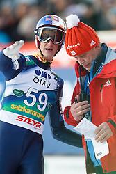 12.01.2014, Kulm, Bad Mitterndorf, AUT, FIS Ski Flug Weltcup, Zweiter Durchgang, im Bild Gregor Schlierenzauer (AUT) // Gregor Schlierenzauer (AUT) during the second round of FIS Ski Flying World Cup at the Kulm, Bad Mitterndorf, Austria on 2014/01/12, EXPA Pictures © 2013, PhotoCredit: EXPA/ Erwin Scheriau