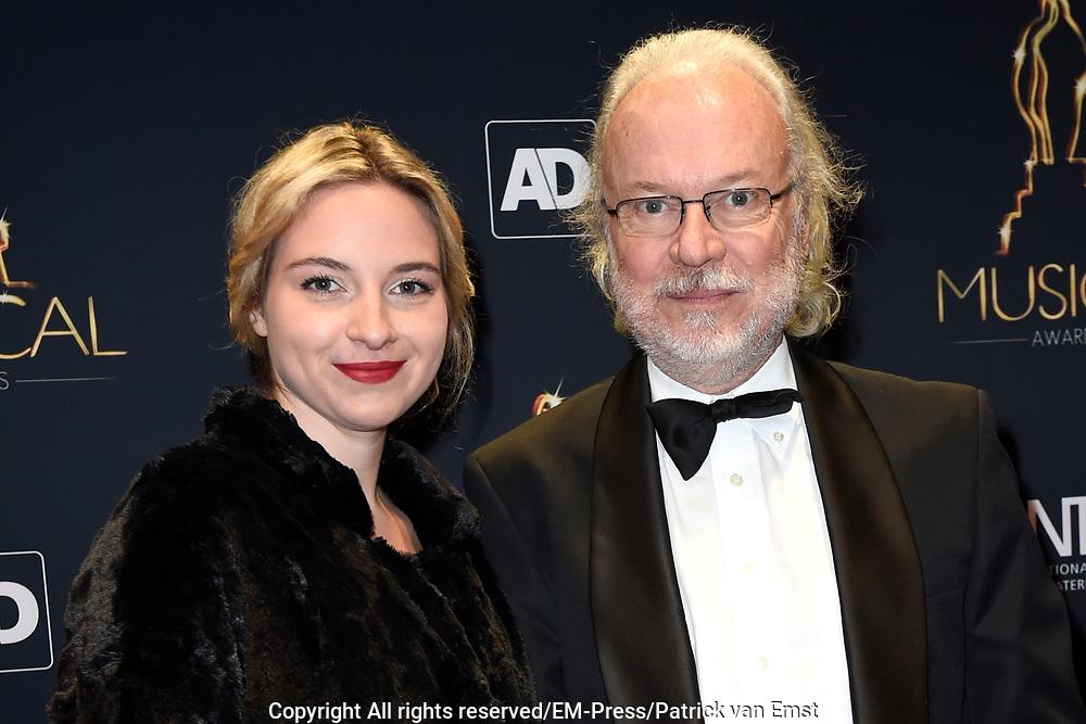 Musical Awards Gala 2016 in het Beatrix Theater Utrecht<br /> <br /> Op de foto:  Eddy Habbema en partner