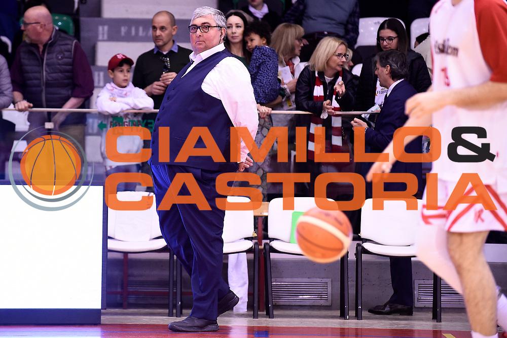 Pillastrini Stefano<br /> Grissin Bon Reggio Emilia - Dolomiti Energia Trentino<br /> Legabasket Serie A 2018/2019<br /> Reggio Emilia 07/04/2019<br /> Foto A.Giberti / Ciamillo-Castoria