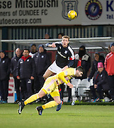 Dundee&rsquo;s Kevin Holt and Hearts&rsquo; Callum Paterson - Dundee v Hearts in the Ladbrokes Scottish Premiership at Dens Park, Dundee. Photo: David Young<br /> <br />  - &copy; David Young - www.davidyoungphoto.co.uk - email: davidyoungphoto@gmail.com