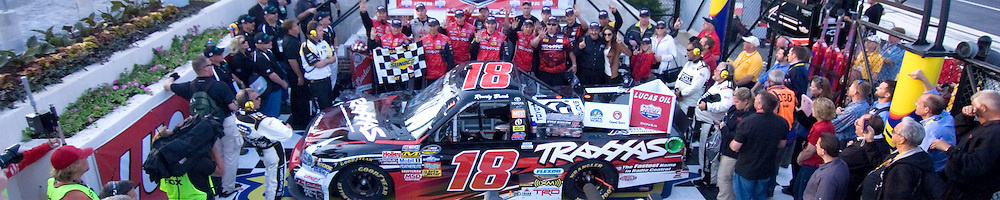 Kyle Busch #18 wins the NASCAR Camping World Truck Series Race Friday May, 13, 2011 at Dover International Speedway in Dover Delaware...Special to The News Journal/SAQUAN STIMPSON
