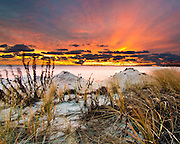 A Spectacular Captree Sunrise, Overlooking Fire Island, New York