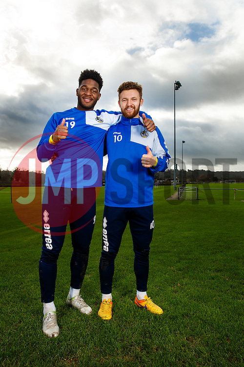 Ellis Harrison and Matty Taylor of Bristol Rovers poses during a portrait session - Mandatory byline: Rogan Thomson/JMP - 05/12/2015 - FOOTBALL - The Lawns Training Ground - Bristol, England - Bristol Rovers Portrait Session.