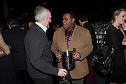 JONATHAN PRYCE; CLIVE ROWE;, Clybourne Park Press night. Opened at Wyndham's Theatre. Party afterwards at Mint Leaf, Haymarket, London. 8 February 2011.  -DO NOT ARCHIVE-© Copyright Photograph by Dafydd Jones. 248 Clapham Rd. London SW9 0PZ. Tel 0207 820 0771. www.dafjones.com.