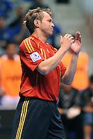 Fussball  International  FIFA  FUTSAL WM 2008   01.10.2008 Vorrunde Gruppe D Spain - Iran Spanien- Iran MARCELO (ESP) nach einer vergebenen Chance.