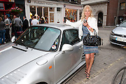 DEBBIE MOORE, Dirty Pretty Things - summer party. Lingerie line hosts  party celebrating its new online shop and showcasing the latest collection. The Lingerie Collective, 8 Ganton Street, Soho. London, 15 June 2011<br /> <br />  , -DO NOT ARCHIVE-© Copyright Photograph by Dafydd Jones. 248 Clapham Rd. London SW9 0PZ. Tel 0207 820 0771. www.dafjones.com.