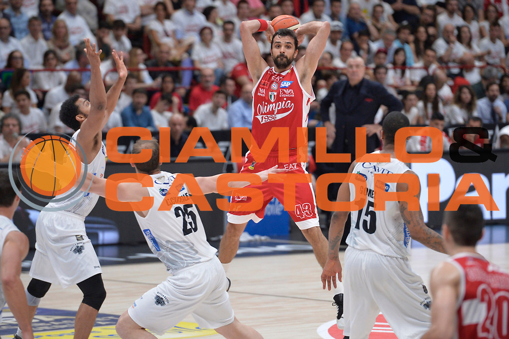 Simon Krunoslav<br /> Olimpia EA7 Emporio Armani Milano vs Dolomiti Energia Trentino<br /> Lega A  2016/2017  Semifinale Gara 1<br /> Milano 25/05/2017<br /> Foto Ciamillo-Castoria/I.Mancini<br /> Provvisorio