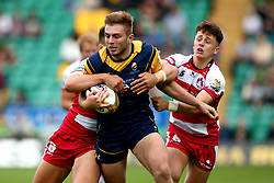 Tom Dodd of Worcester Warriors is tackled - Mandatory by-line: Robbie Stephenson/JMP - 29/07/2017 - RUGBY - Franklin's Gardens - Northampton, England - Worcester Warriors v Gloucester Rugby - Singha Premiership Rugby 7s