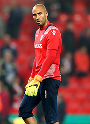 Lee Grant of Stoke City - Mandatory by-line: Robbie Stephenson/JMP - 31/10/2016 - FOOTBALL - Bet365 Stadium - Stoke-on-Trent, England - Stoke City v Swansea City - Premier League