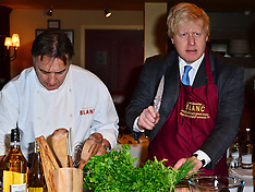 MAR 06 2013 Boris Johnson meets celebrity chef Raymond Blanc