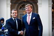 Koning ontvangt president Macron