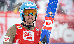 31.01.2016, Casino Arena, Seefeld, AUT, FIS Weltcup Nordische Kombination, Seefeld Triple, Skisprung, im Bild Wilhelm Denifl (AUT) // Wilhelm Denifl of Austria reacts after his Competition Jump of Skijumping of the FIS Nordic Combined World Cup Seefeld Triple at the Casino Arena in Seefeld, Austria on 2016/01/31. EXPA Pictures © 2016, PhotoCredit: EXPA/ Jakob Gruber