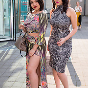 11.05. 2017.                                                 <br /> Over 20 leading Irish and international fashion media and influencers converged on Limerick for 24 hours on, Thursday, 11th May for a showcase of Limerick's fashion industry, culminating with Limerick School of Art & Design, LIT, presenting the LSAD 360° Fashion Show, sponsored by AIB.<br /> Pictured at the event were, Emily and Rayssa Bueno, Brazil. Picture: Alan Place
