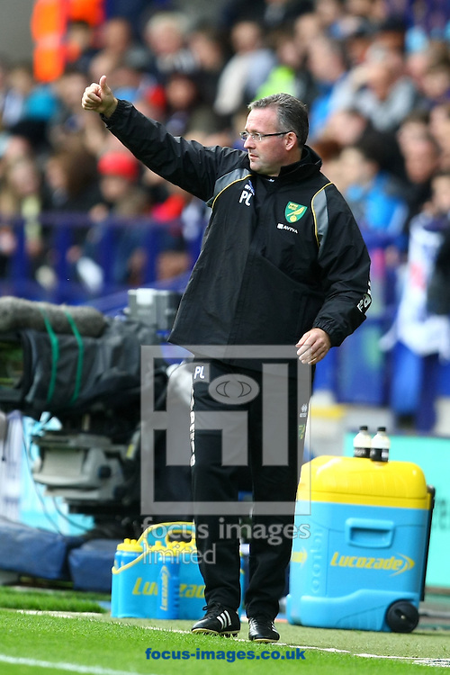 Picture by Paul Chesterton/Focus Images Ltd.  07904 640267.17/9/11.Norwich Manager Paul Lambert during the Barclays Premier League match at Reebok Stadium, Bolton.
